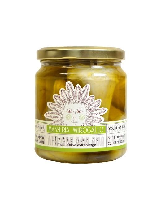 Whole artichokes in olive oil - Masseria Mirogallo