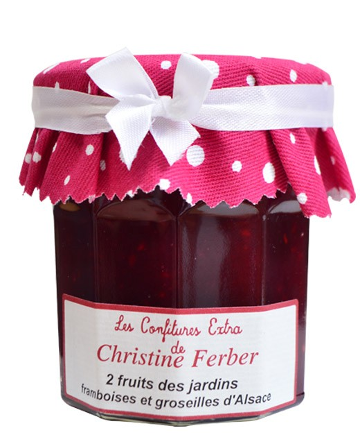 2 red garden fruits Jam (raspberry and gooseberry) - Christine Ferber
