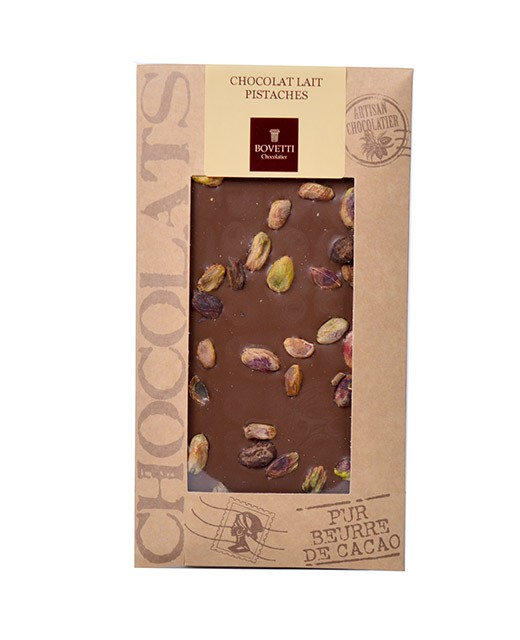 Milk chocolate bar - pistachios - Bovetti
