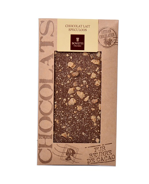 Milk chocolate bar - spéculoos - Bovetti