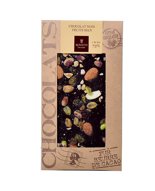 Dark chocolate - dried fruit - Bovetti