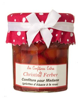 Morello cherries and rose petals jam - Christine Ferber