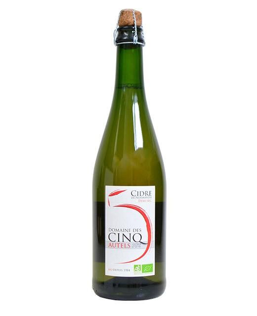 Organic semi-dry cider of Normandy  - Domaine des Cinq Autels
