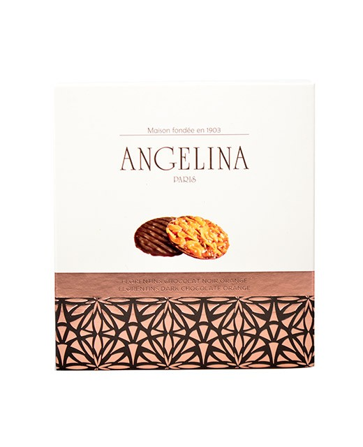 Orange and black chocolate Florentine cake - Angelina