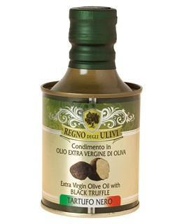 Olive Oil flavored with Black Truffles - Regno degli Ulivi