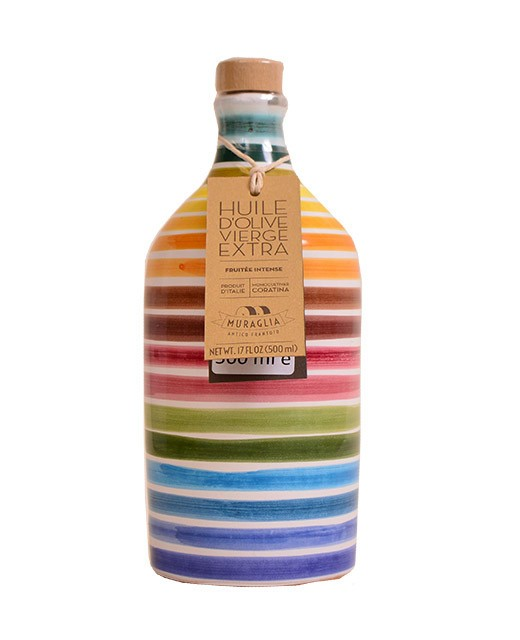 Extra-virgin olive oil from Apulia - Bottle with a pea pattern - Muraglia
