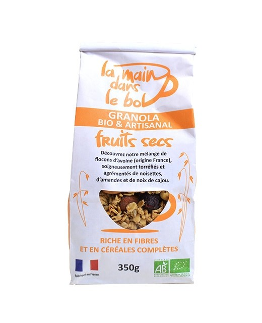 Organic granola - Dried fruits - La Main dans le Bol