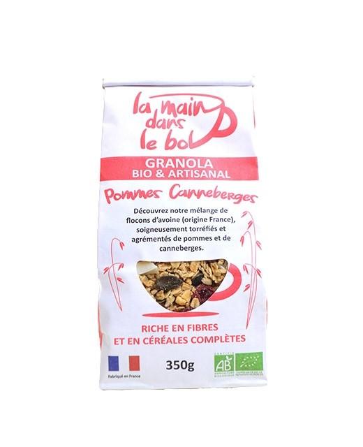 Organic granola - Cranberries and Apples - La Main dans le Bol