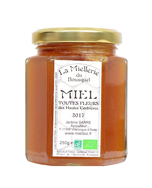Organic Wildflower honey - Miellerie du Bousquet