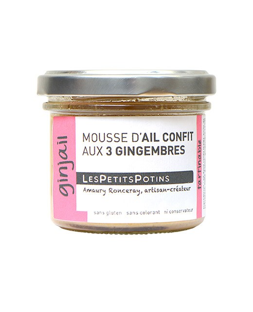 Garlic confit with three ginger spread - Les Petits Potins