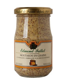 Traditionnal Wholegrain Mustard with White Wine - Fallot