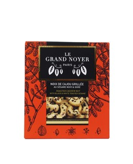 Roasted cashew nuts with black and white sesame - Le Grand Noyer