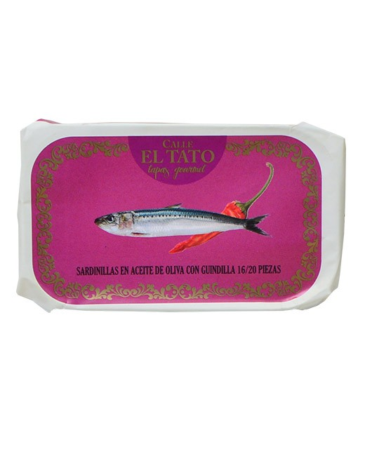 Little sardines in olive oil and with chilli - Calle el Tato