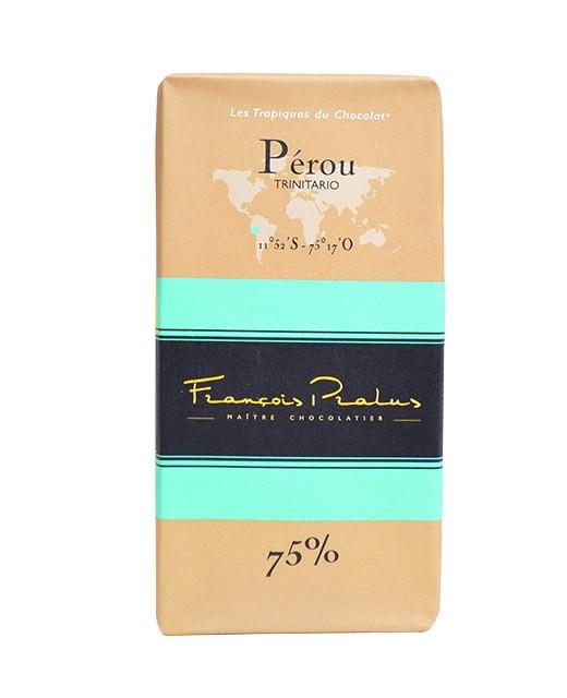 Dark chocolate bar Peru bio - Pralus