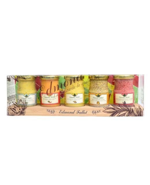 5 mustards wood set - Fallot
