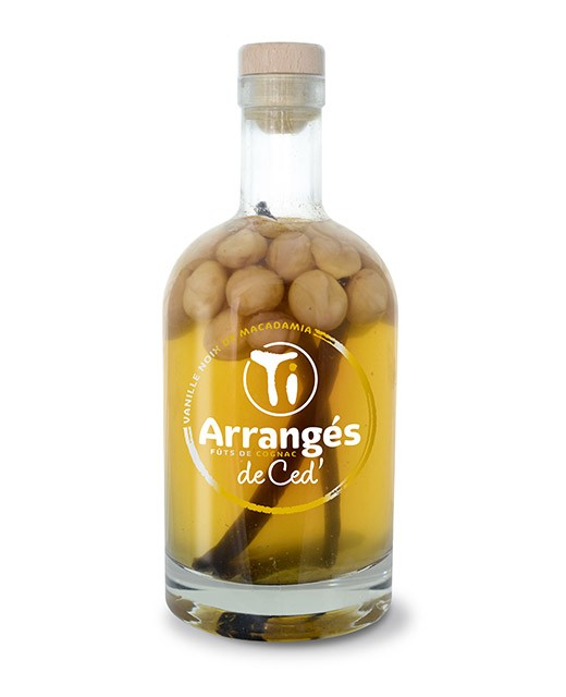 Flavoured Rum - Vanilla and Macadamia nut - Les Rhums de Ced'