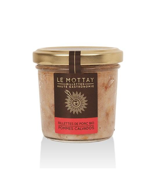 Organic pork rillettes with apple and Calvados - Le Mottay Gourmand