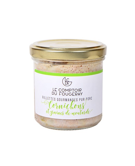 Pork rillettes with gherkins and mustard seeds - Comptoir Fougeray
