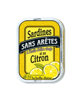 Sardines without fishbone in extra virgin olive oil and lemon - La Belle-Iloise