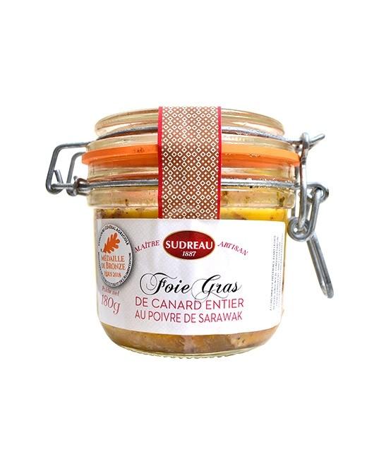 Whole duck foie gras - 2 peppers - Sudreau