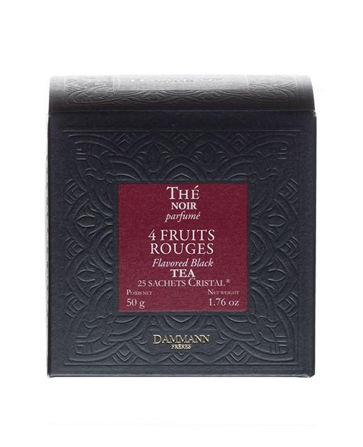 4 red fruits Tea - cristal sachets - Dammann Frères