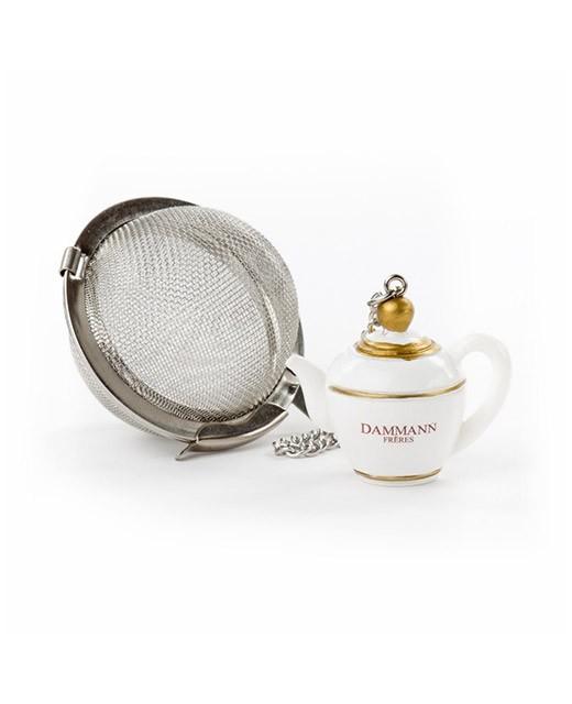 Teapot patterned tea ball - Dammann Frères