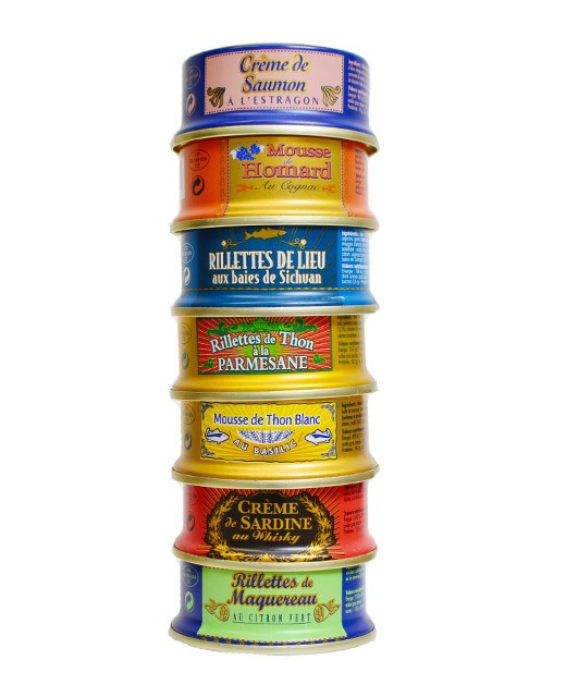 Assortment of 7 seafood spreads - La Belle-Iloise