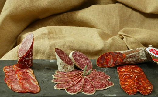 Bellota dry sausage - sliced - Beher