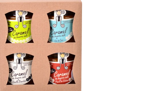 Salted butter caramel - 4 flavours giftbox - Rozell et Spanell