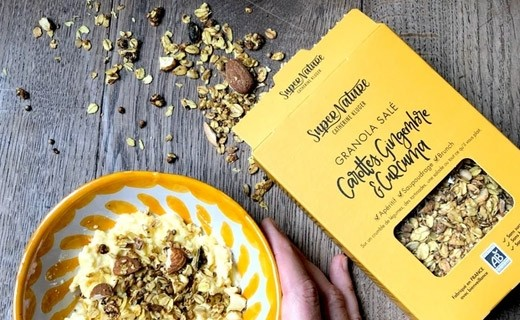 Salted granola with carrots, ginger and turmeric - Organic - Catherine Kluger