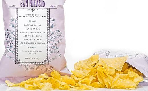Crisps with extra virgin oil - pink salt - San Nicasio