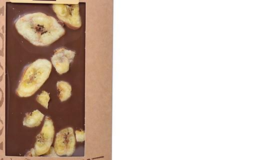 Milk chocolate bar - banana - Bovetti