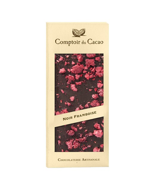 Dark chocolate tablet - Raspberry - Comptoir du Cacao