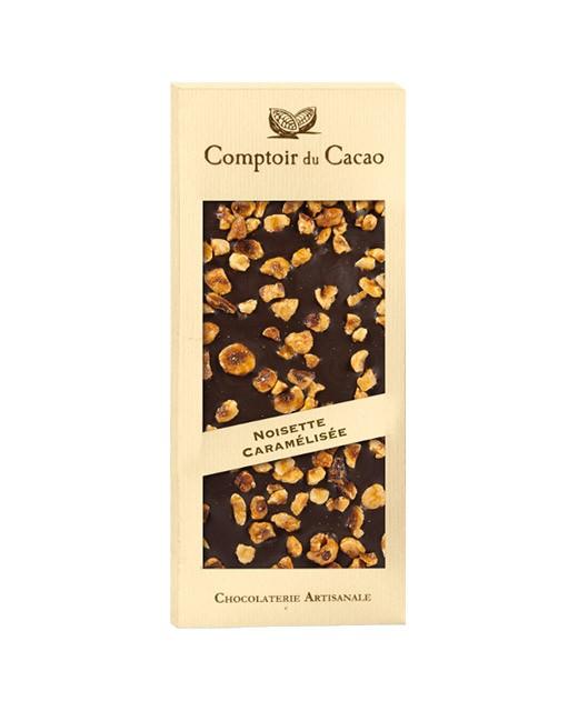 Dark chocolate tablet - caramelised hazelnut - Comptoir du Cacao