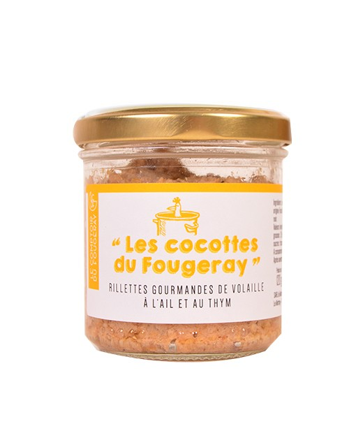 Gourmet poultry rillettes with garlic and thyme