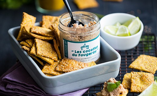 Gourmet poultry rillettes with combava peels - Comptoir Fougeray