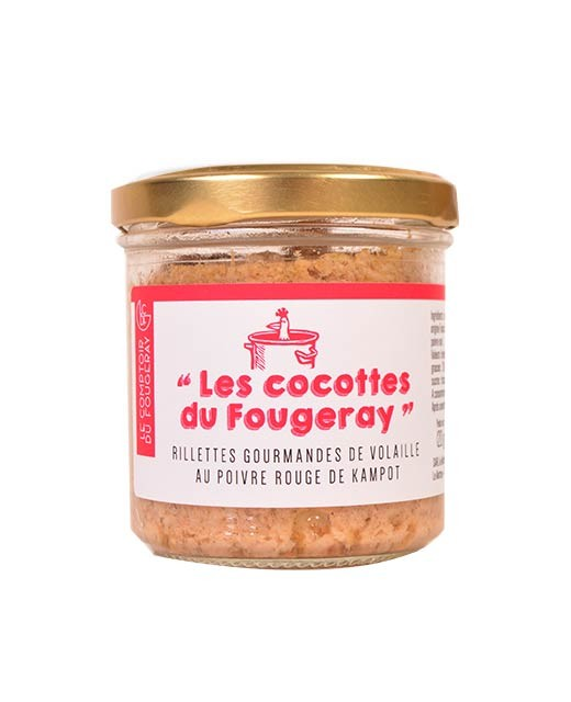 Gourmet poultry rillettes with Kampot red pepper