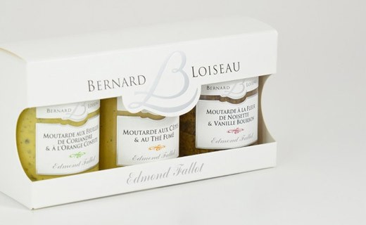 Boxed set of 3 Bernard Loiseau mustards - Fallot