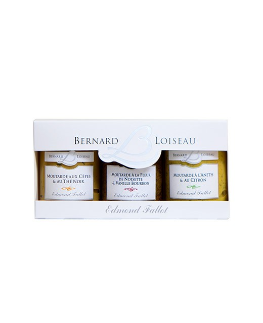 Boxed set of 3 Bernard Loiseau mustards - Fallot