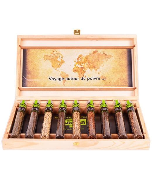 Wood Box - Great World Peppers - Sarabar