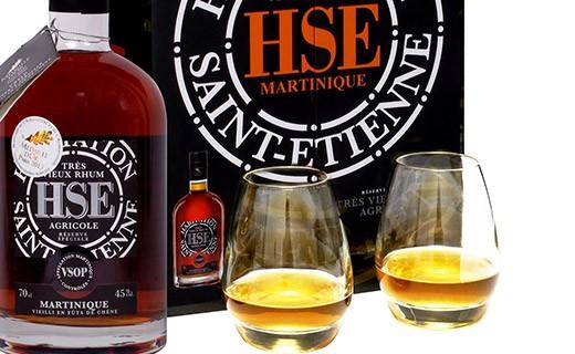 Rum HSE Special Reserve VSOP - 2 glasses set - Habitation Saint-Etienne