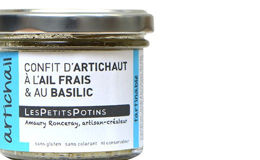Artichoke confit with garlic and basil spread - Les Petits Potins