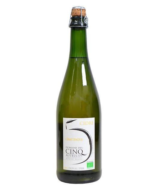 Cider of Normandy - Organic special vintage: the Inattendue - Domaine des Cinq Autels