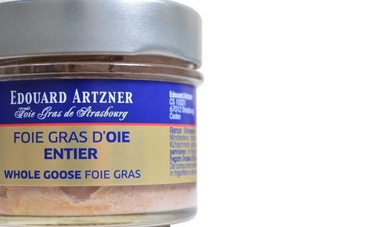 Whole goose foie gras 120g (preserved) - Edouard Artzner
