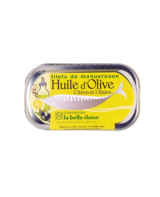 Mackerel fillets in olive oil, lemon and 5 berries - La Belle-Iloise