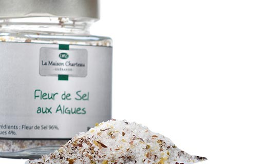 "French sea salt ""Fleur de Sel"" with algae - Maison Charteau"