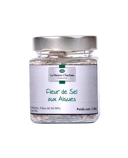 "French sea salt ""Fleur de Sel"" with algae"