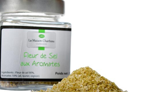 "French sea salt ""Fleur de Sel"" with herbs and spices - Maison Charteau"