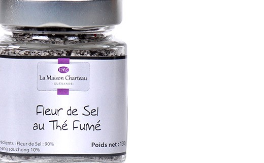 Fleur de sel from France with smoked tea - Maison Charteau