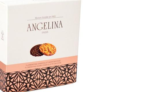 Orange and black chocolate Florentine cake - Angelina